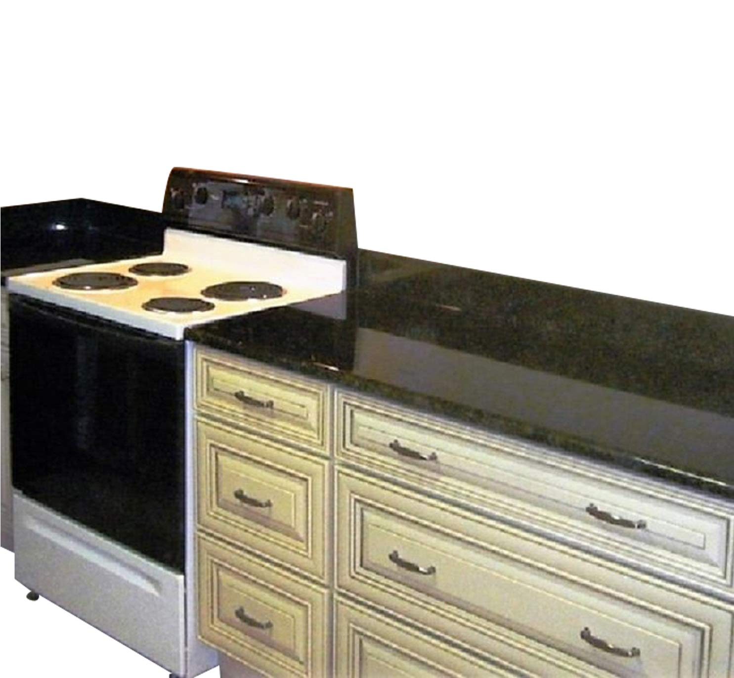 Peel and Stick Black Faux Marble Granite Countertop Film Self Adhesive Vinyl Laminate Counter Top Contact Paper 36'' x 240''