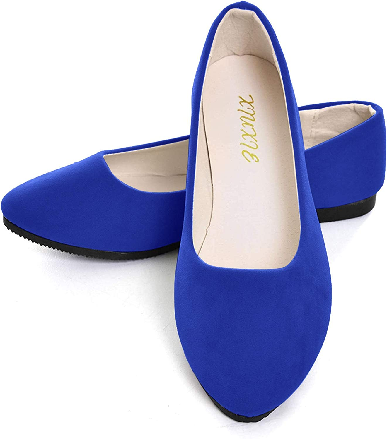 Dear Time Women Flat Shoes Comfortable Slip on Pointed Toe Ballet Flats