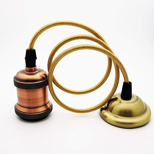 Lámpara colgante VINTAGE, Retro estilo antiguo Bronce ...