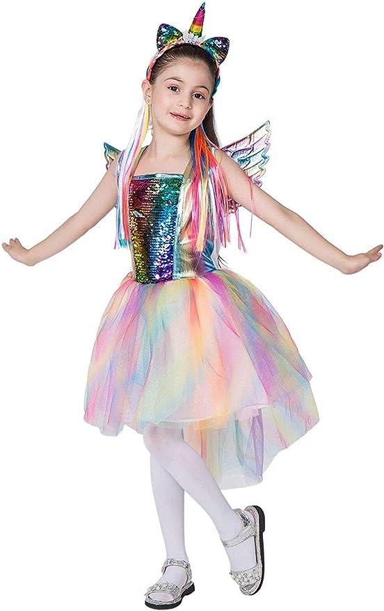 XYFW Disfraz De Unicornio De Color Arco Iris para Niños Disfraz De ...