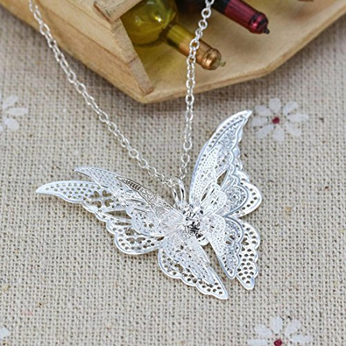 Deals Butterfly Necklace Fahion Womens Antique Vintage Time Necklace Sweater Chain Pendant Jewelry Gift by ZYooh