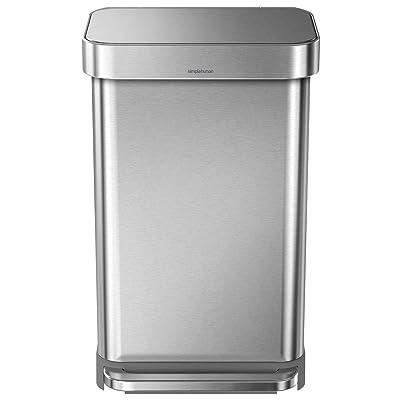 Simplehuman 45 Liter Rectangular Hands-Free Kitchen Step Trash Can