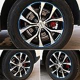 #2: GOGOLO Universal Car Rim Protector Blade 8 Meter, Anti Scratch Car Wheel Rim Edge Reflective Guard Stripe for All Vehicle Wheels from 16