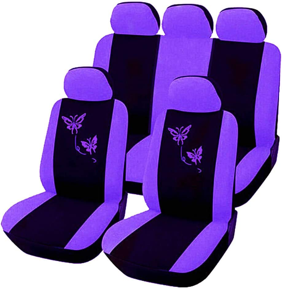 Gray 4-Piece Set SUV /& Truck Butterfly Styling Car Seat Cover Front Rear Universal Car Seat Covers for Car