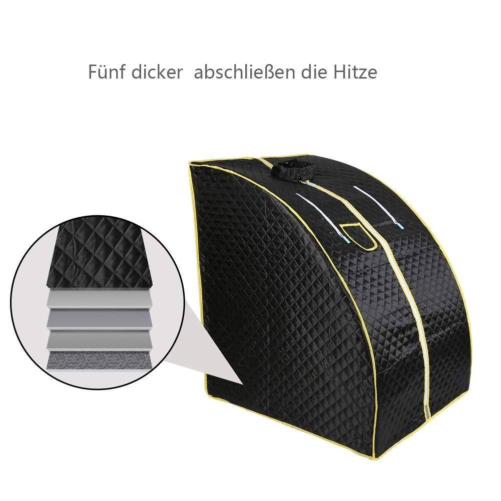 Mini sauna mobile a vapore Sauna domestica Cabina termica Sauna per sedersi Cabina sauna Nero