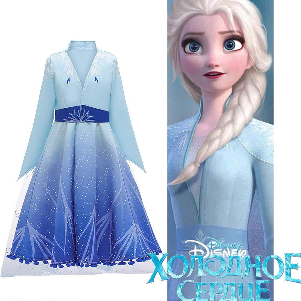 Set da Principessa Elsa Corona Bacchetta Elsa Costume di Cosplay Party Costume di Halloween Abito delle Ragazze di Natale Abito Fantasia Xploit Frozen 2 Costume