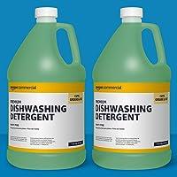 2-Pack AmazonCommercial Premium Dishwashing Detergent, Minty Pine, 1-Gallon