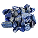 Bingcute 1 lb Natural Lapis Lazuli About 0.8''inch Tumbled Stone Healing Reiki Crystal Jewelry Making Home Decoration