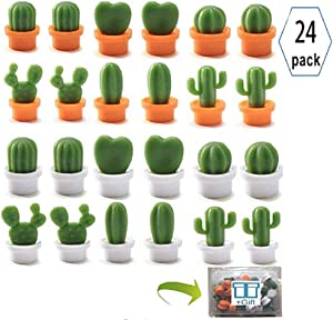 Refrigerator Magnets for Office, Kitchen,decorative magnets,Cute Mini Cactus Fridge magnet,Whiteboard Magnets, Map Magnets (green)