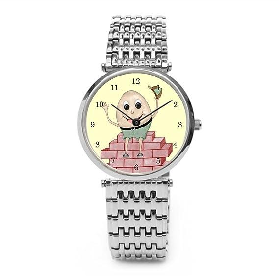tinax plantilla de acero inoxidable reloj relojes acero inoxidable Nursery Rhyme: Amazon.es: Relojes
