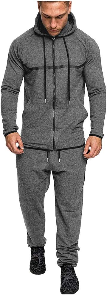BBTshop Mens Sweatshirt /& Pants Sets Sports Suit Tracksuit Top Pant Sets Winter Warm Long Sleeve Patchwork Pullover Sport Pocket Sweatpants Jacket Jumpsuits Hooded Sweater Blouses Shirt for Men