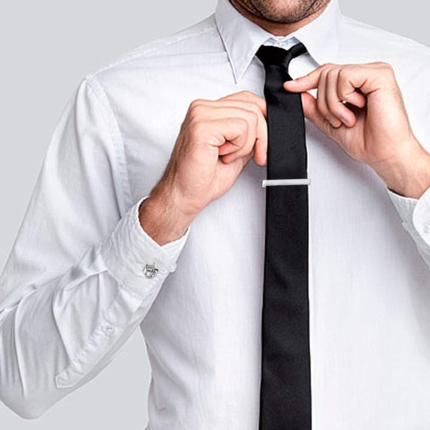 YADOCA Cobre Gemelos Clips de Corbata para Hombres Clásicos para ...