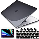 May Chen MacBook Pro 16 inch 2019 Release A2141, Plastic Hard Shell Case Cover with Screen Protector & Keyboard Cover for MacBook Pro 16 Retina with Touch Bar and Touch ID - Crystal Black