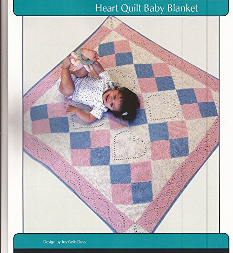 Heart Quilt Baby Blanket Fiber Trends Knitting Pattern CH-50