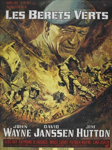 Beret Celebrity - Green Berets 27 x 40 Movie Poster