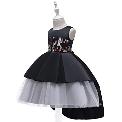 Amazon.com: NOMSOCR - Vestido de fiesta bordado para niña ...