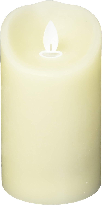 Sterno Home MGT814305CR00 Cream Wax Pillar with Timer
