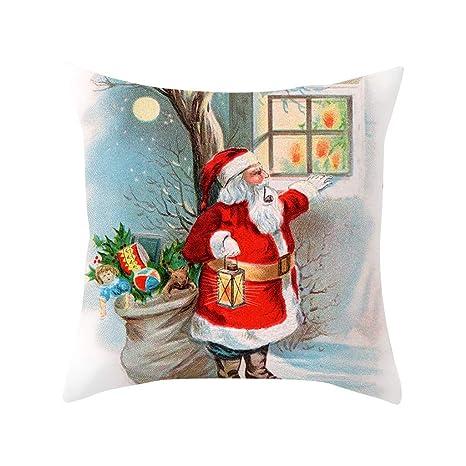 IJKLMNOP Funda de almohada hueca navideña 45x45cm para ...