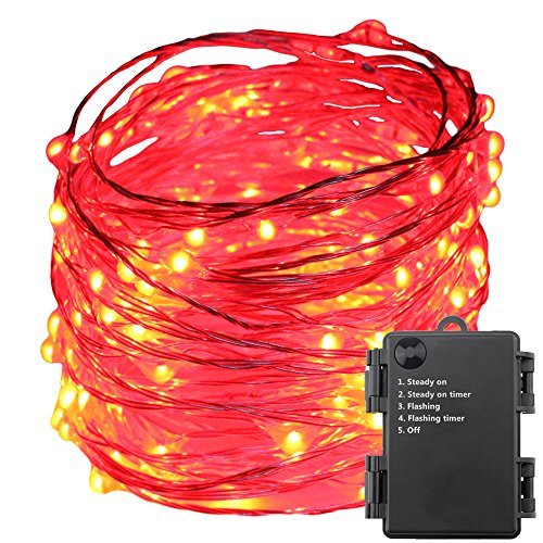 100 Count Red Led Christmas Lights - 9