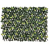 FASHION GARDEN Fence Expandable Faux Ivy Privacy Fence Artificial Hedge 39×78 INCH Single Sided Colour Leaves Green (Yellow) Review