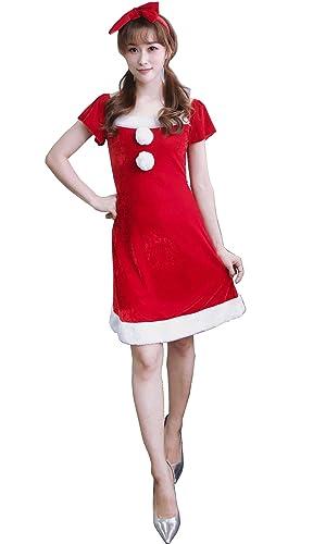 74fbcda2f9b17 クリスマスコスプレ サンタコスプレ クロース コスチュームハロウィン ドレス サンタ衣装 キャバXmas ladies dress イベント パーティー