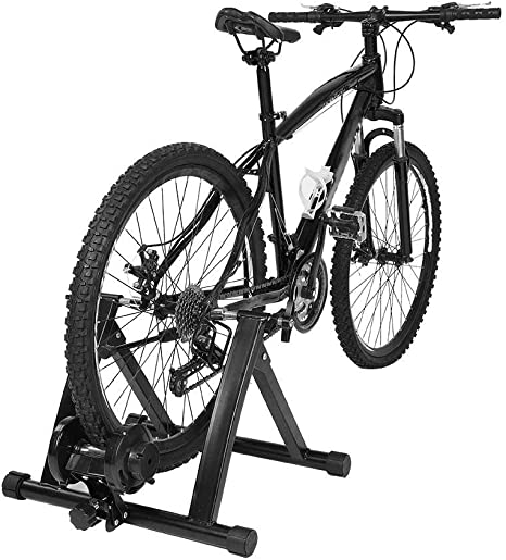 GOTOTOP - Rodillo de entrenamiento para bicicleta (plegable, acero ...
