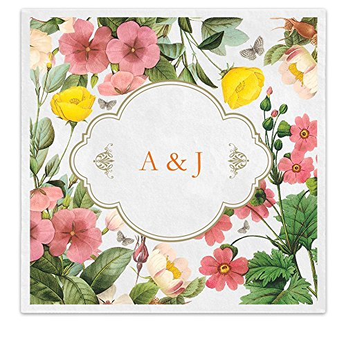 Wildflower Personalized Initials Beverage Cocktail product image