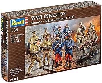 Revell - Maqueta WWI Infantry alemán, inglés, francés, Escala 1:35 (02451): Amazon.es: Juguetes y juegos