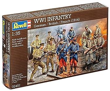 Revell - Maqueta WWI Infantry alemán, inglés, francés, Escala 1:35 (02451)