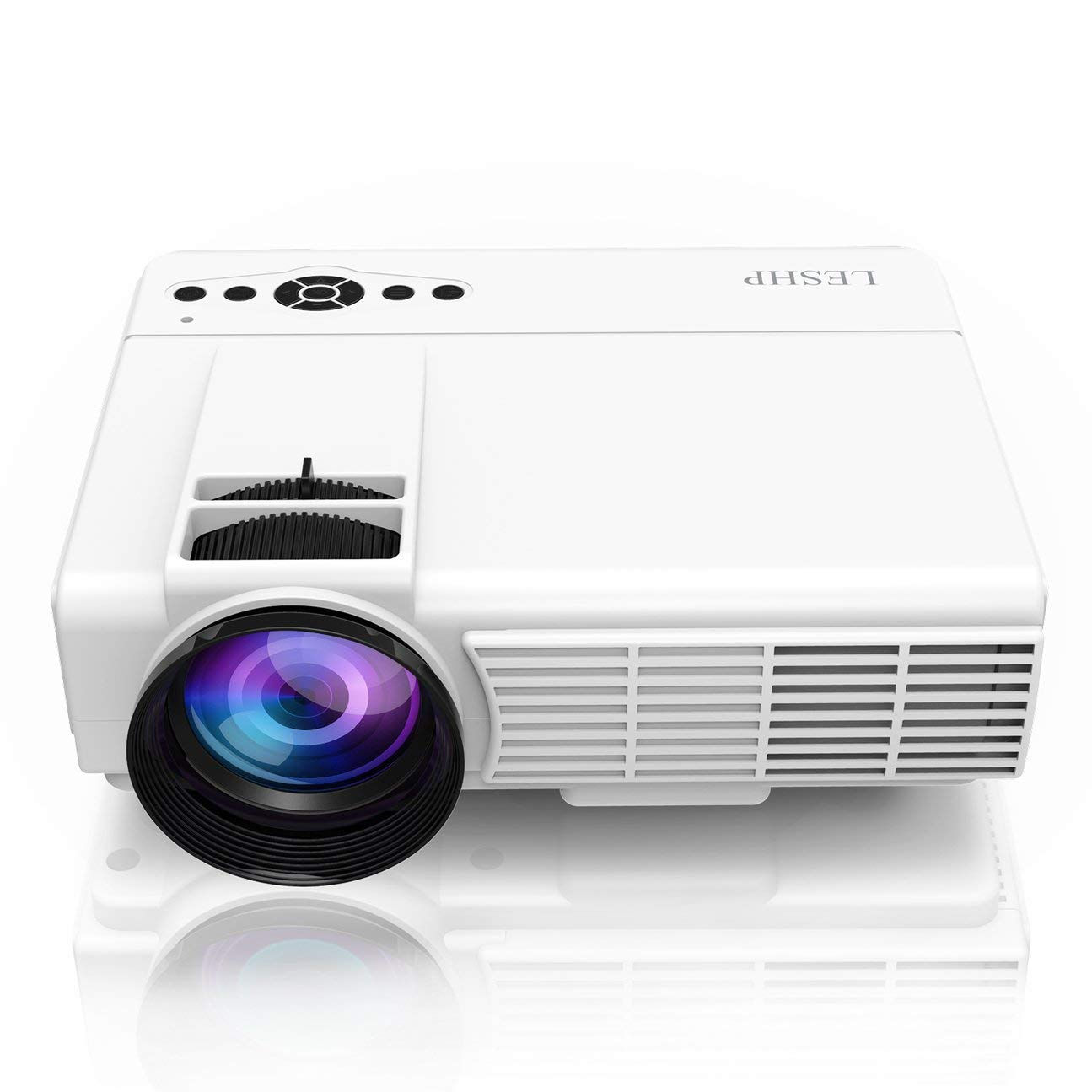 LESHP Q5 Proyector LED 800 * 480 Pixel 1200LM Mini Home Theater ...