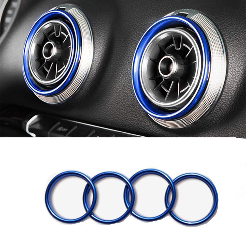 Argento anello di decorazione per bocchette auto,anello decorativo per sfiato auto,Bocchette aria dellauto In lega di alluminio anelli decorativi