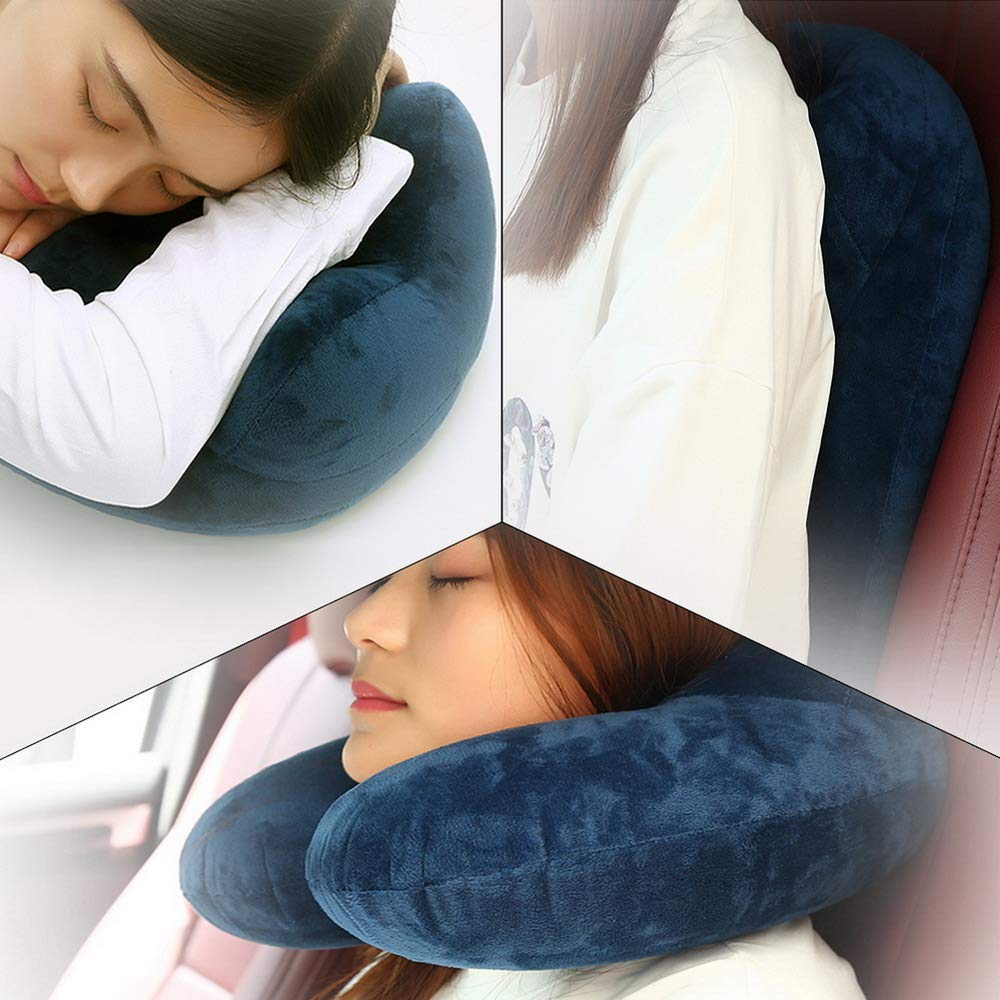 toorwarakorn.3152 U-Shaped Pillows Portable Pillow for Neck Pain Side Sleepers Comfortable for Train Plane Travel Outdoor