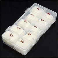 1 Box/500 Pcs Artificial Nail Tip Full Cover False Nail Tips Natural Nail Extension Making Gel UV Manicure Set #YL5 (Color : 1)