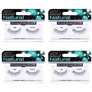 Ardell Natural Lashes False Eyelashes 110 Black (4 pack)