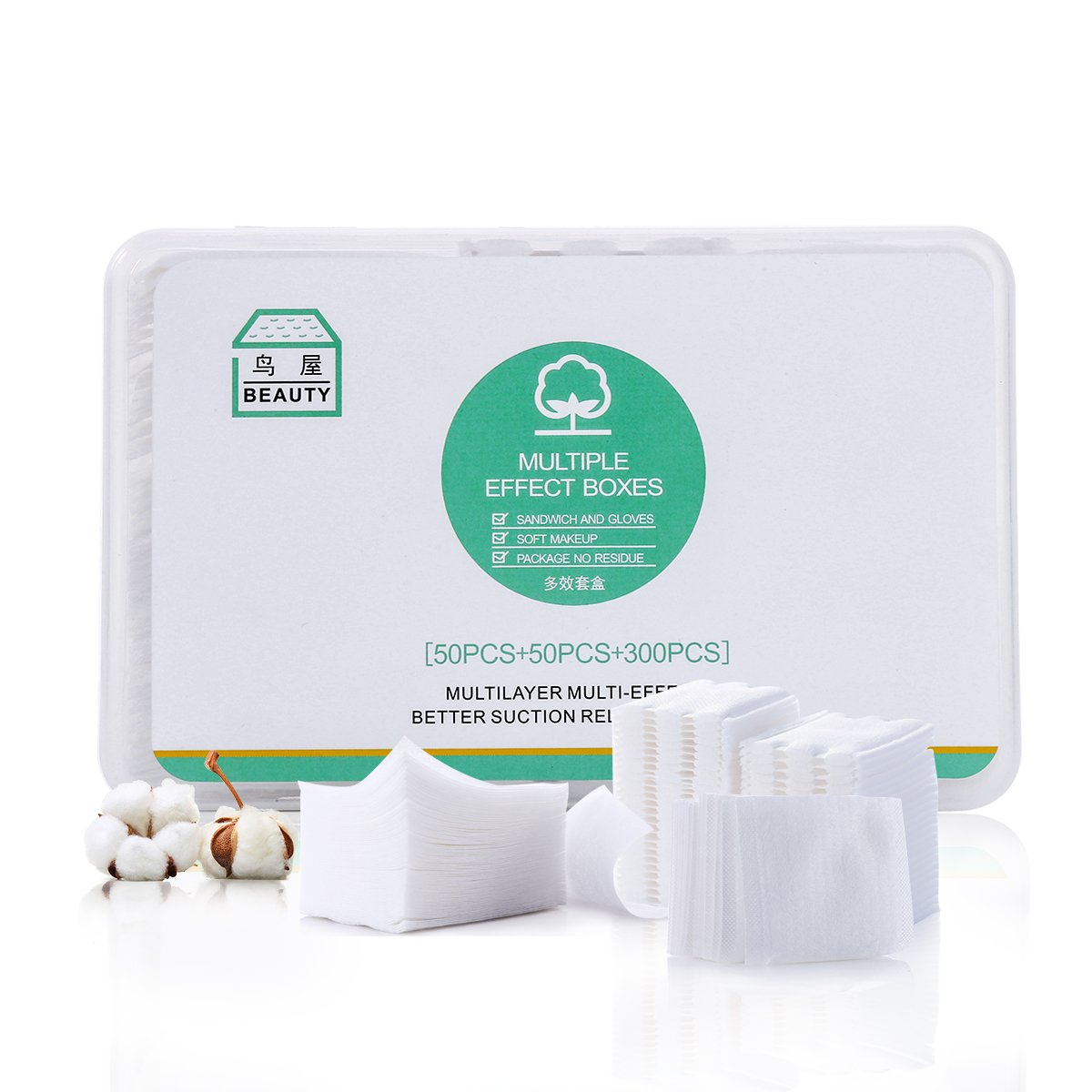 Cosmetic Cotton Pads-Combined Type Multifunctional Organic Cotton Pads-Pack of 400 Pads Ltd