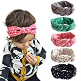Clothing Accessories Best Deals - Fashion Story 5PC Elastic Hair Bow Photography Baby Girl Headband Head Wrap Knotted