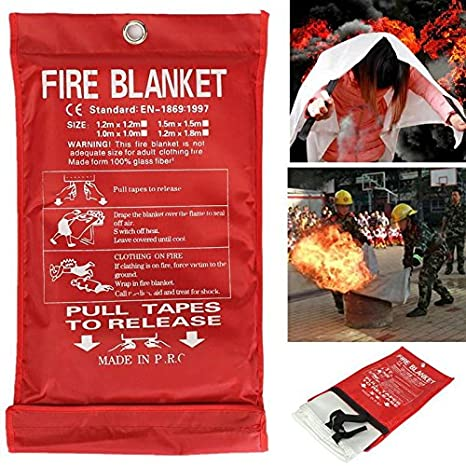 TOOLSTAR Fire Blanket Home Quick Release Large Fire Blanket Wall Mounted fire Blanket 100/% Glass Fabric in Case Ideal for Home Office Kitchen Emergency Use 2M*2M