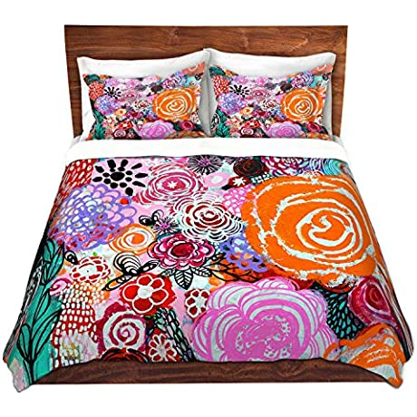Duvet Cover Brushed Twill Twin Queen King SETs DiaNoche Designs Robin Mead Botanical Dream