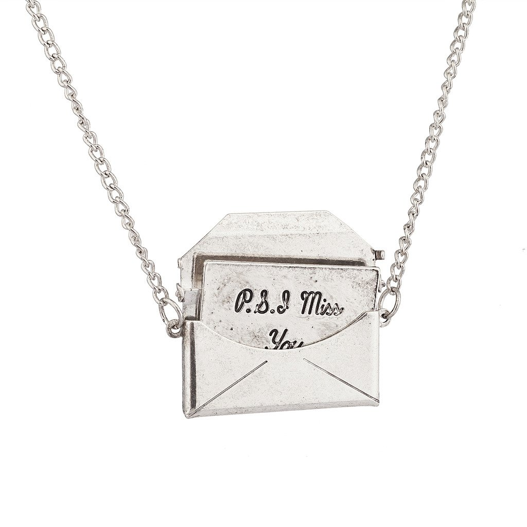 Lux Accessories PS I Miss You Love Letter in an Envelope Pendant Necklace. N200797-1-N1286