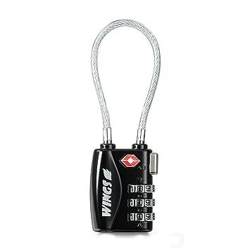 SYMTOP 2 Unidades Candado TSA Lock para Seguridad de Viaje Equipaje Maleta Bloqueo de 3 Códigos Dígitos Clave Numérica Antirrobo - Negro: Amazon.es: ...