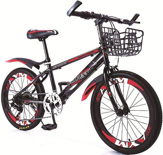 VANYA Velocidad Variable para niños Bicicleta de montaña 20 Pulgadas 21 Speed Carbono Acero Grueso Antideslizante de neumáticos de Bicicletas Niños 8-13 años,Rojo: Amazon.es: Hogar