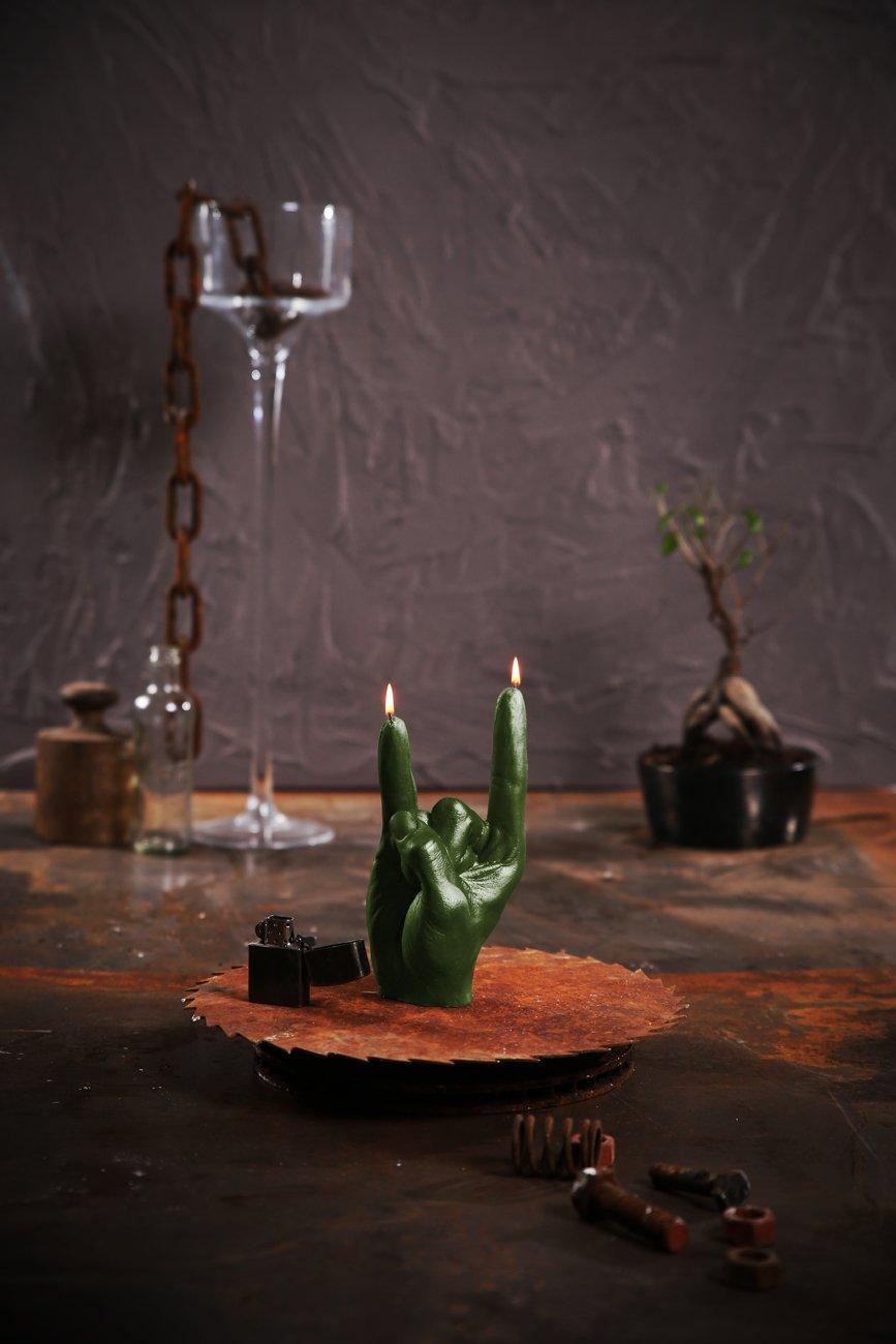 Candellana Candles N Roll Candellana Rock nRoll Candle-Dark Green