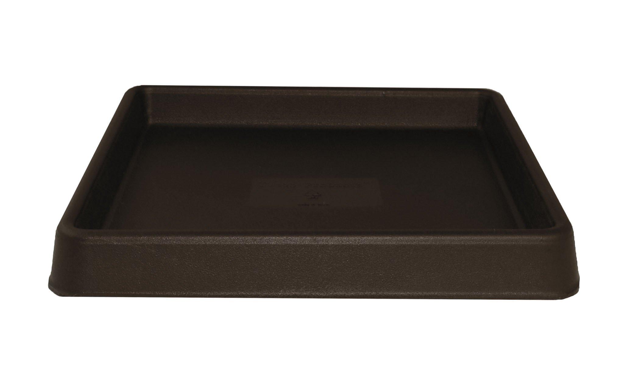 Tusco Products TRSQ15ES Square Saucer, 15-Inch, Espresso