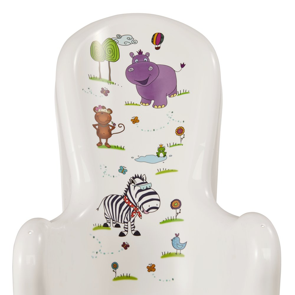 Sillon anatomico para bebes hasta 6 meses motivo Hippo Okt blanco