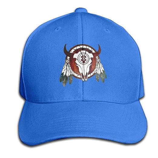 7d1abd2d7 Native American Buffalo Skull Arrowhead Indian Snapback Sandwich Cap ...