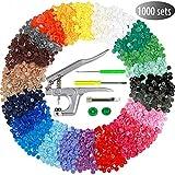 Efivs Arts 1000 Sets T5 Snap Buttons with Plastic