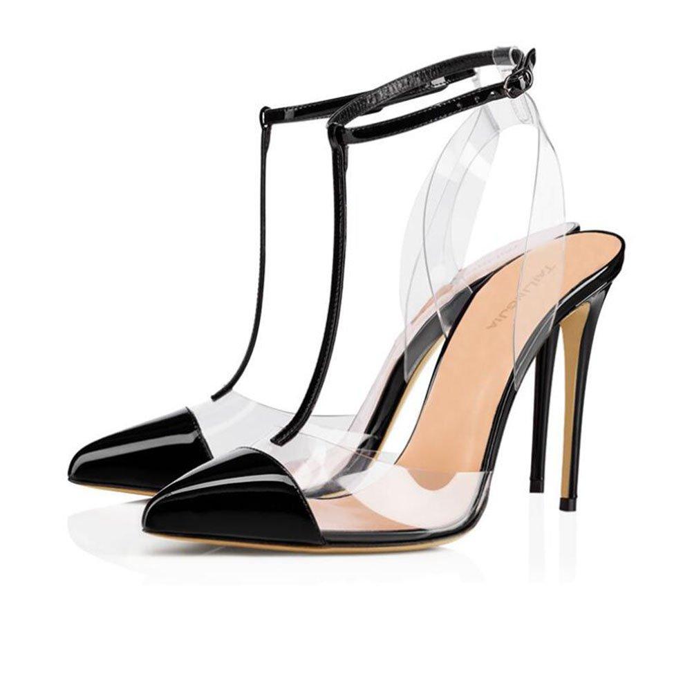 Mujer Shinik Sandalias Tacón Alto Y Europa De Zapatos Pvc wTqCTpH