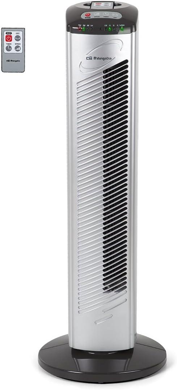 Orbegozo TWM 0975 0975-Ventilador de Torre (42 W, 3 velocidades, programable, Mando a Distancia), Negro y Gris