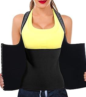 b195a7be2c3bc Junlan Women Neoprene Waist Trainer Vest Corset Tank Top Sauna Body Shaper  Weight Loss