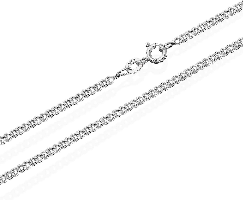 CHAINE ARGENT maille forcat diamanté LARGE 50 cm neuf